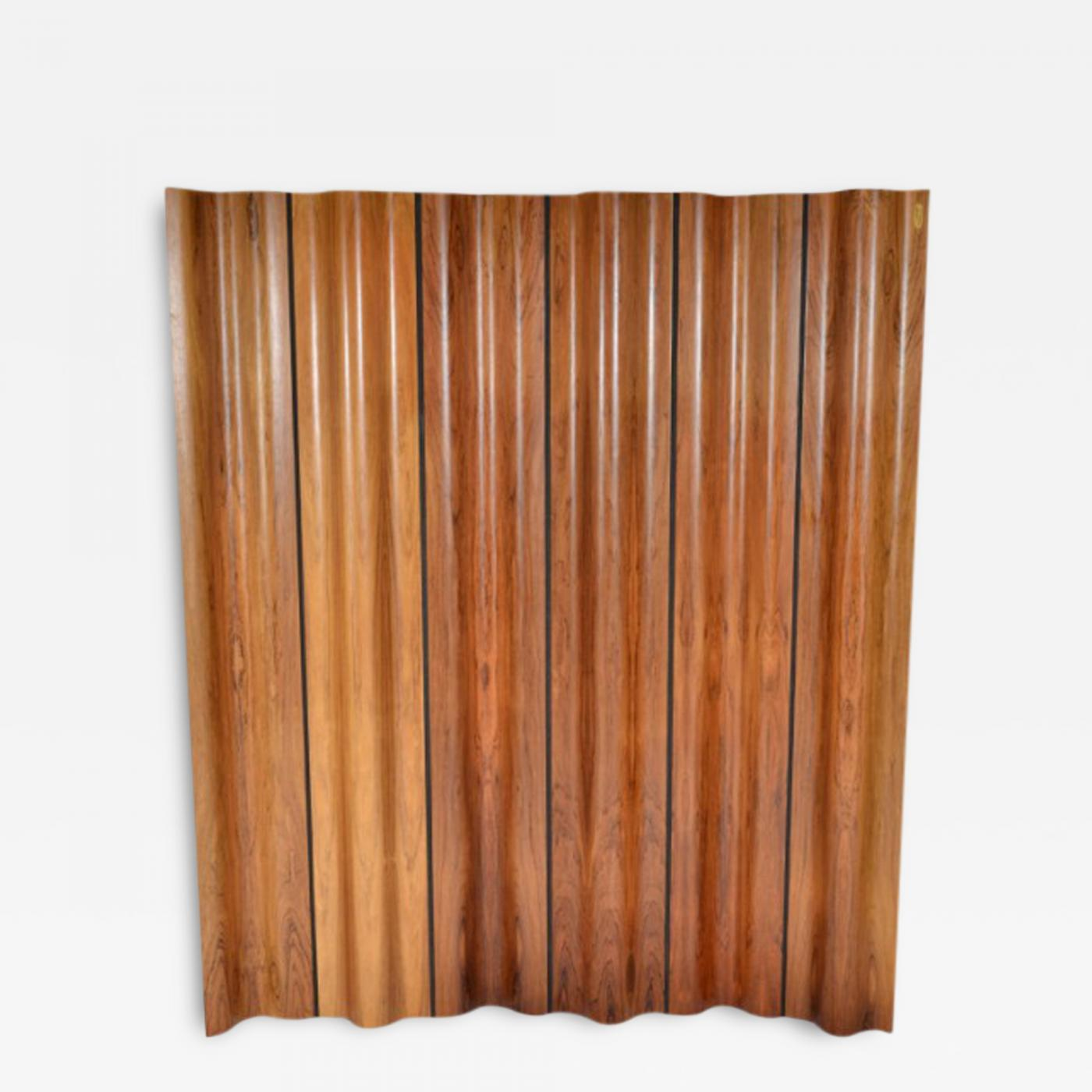 Charles & Ray Eames Molded Rosewood Plywood Folding Screen FSW 6