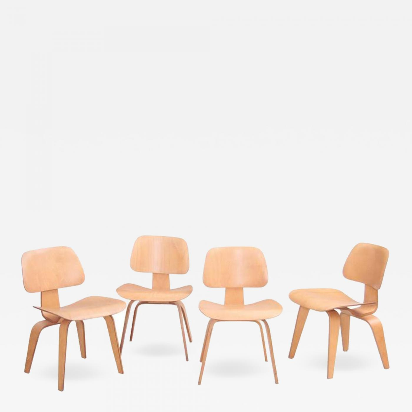 Prime Charles Ray Eames Set Of Four Matched Early Dcw Dining Chairs By Charles And Ray Eames For Evans Pdpeps Interior Chair Design Pdpepsorg