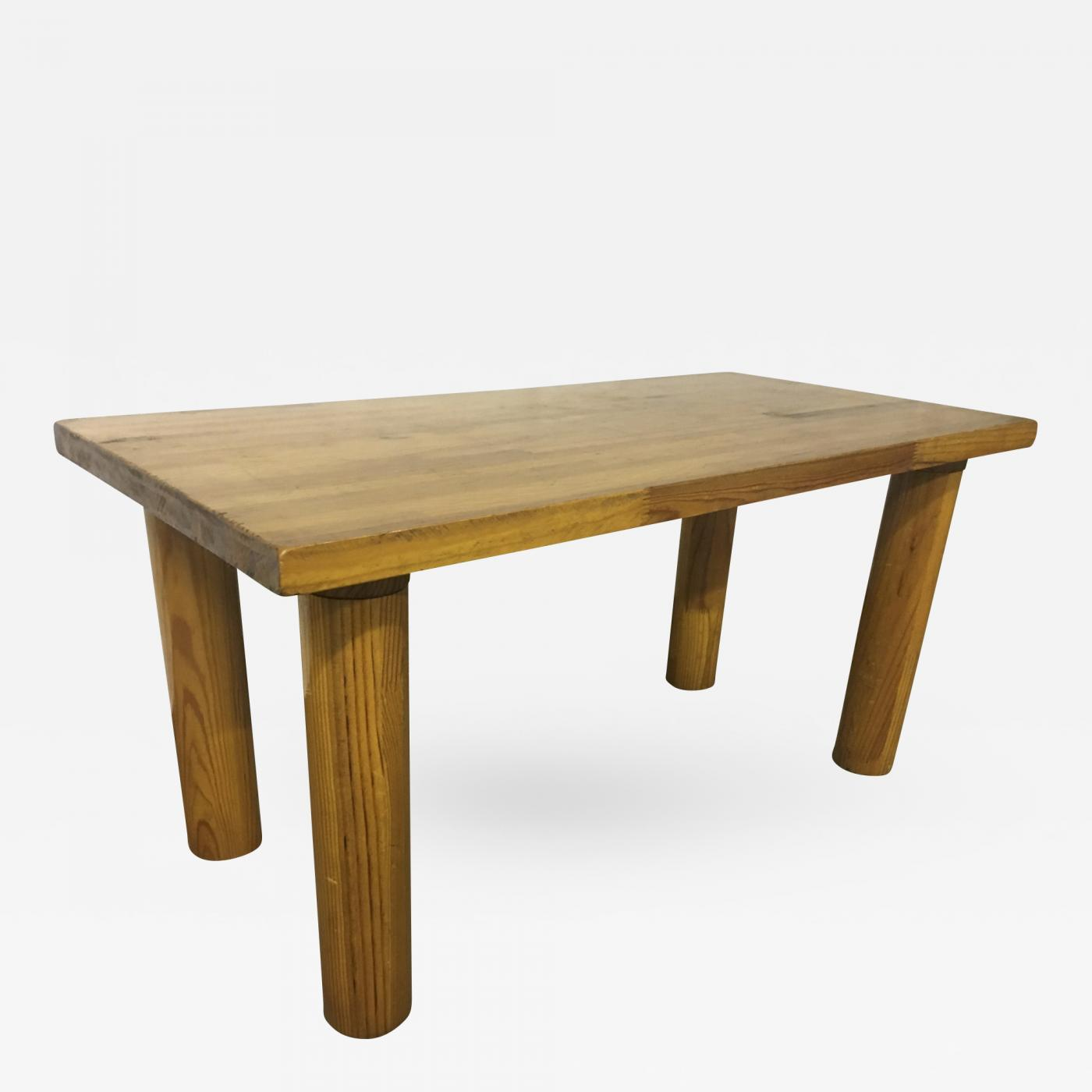 Incredible Charlotte Perriand Style Of Perriand Rectangular Pine Coffee Ocoug Best Dining Table And Chair Ideas Images Ocougorg
