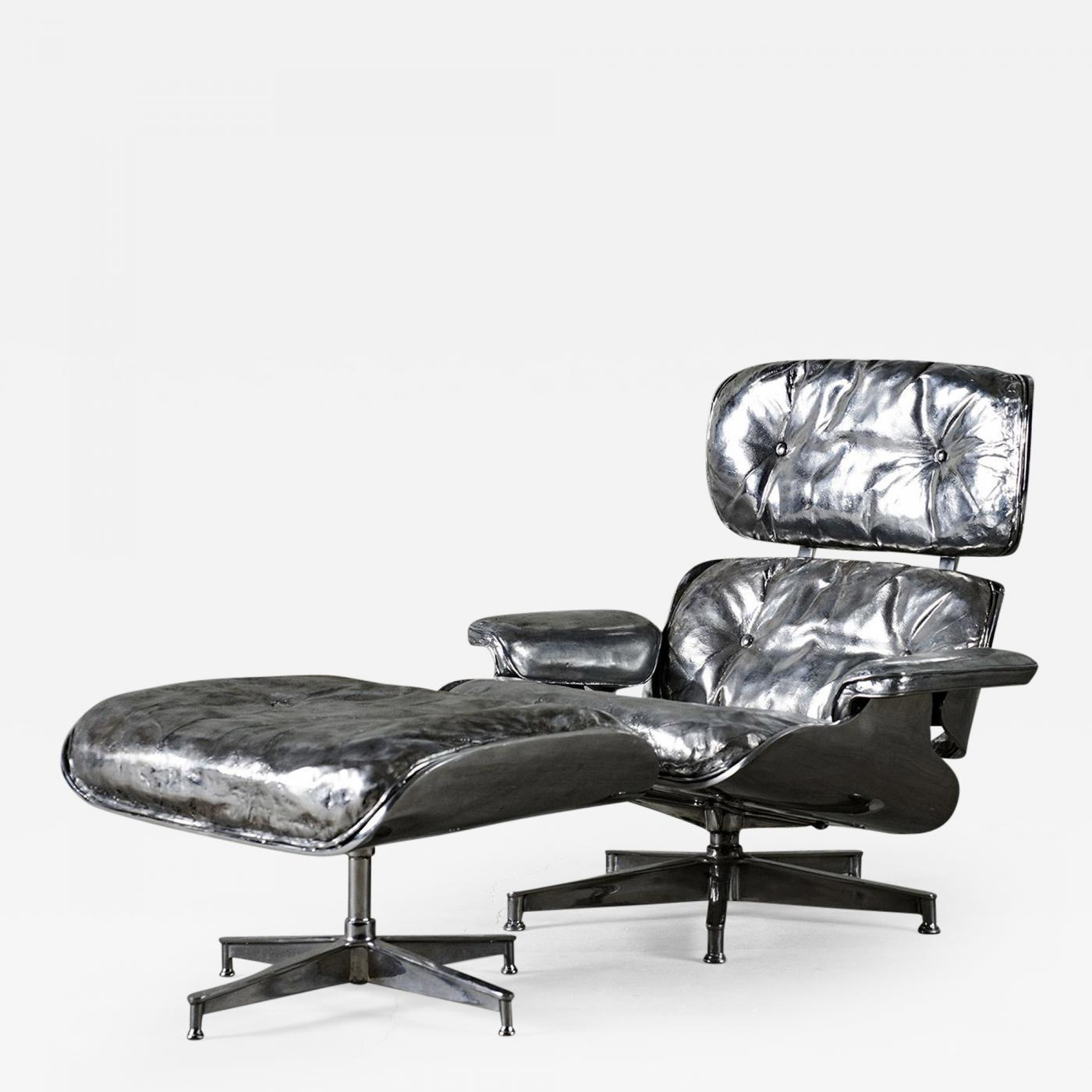 Cheryl Ekstrom Eames Lounge Chair And Ottoman Stainless