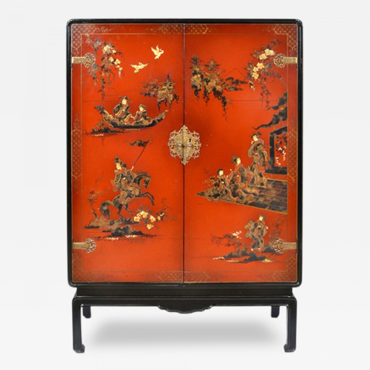 Chinoiserie Bar/Cabinet, France, 1920's