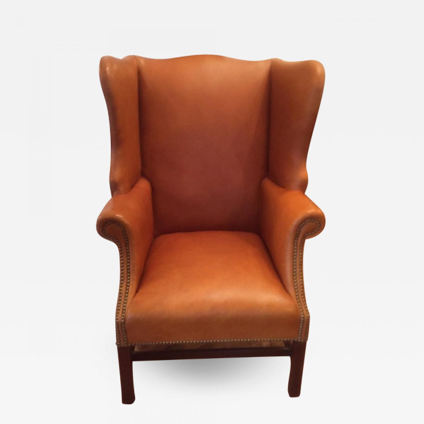 Fine Chippendale Leather Wing Back Chair Short Links Chair Design For Home Short Linksinfo