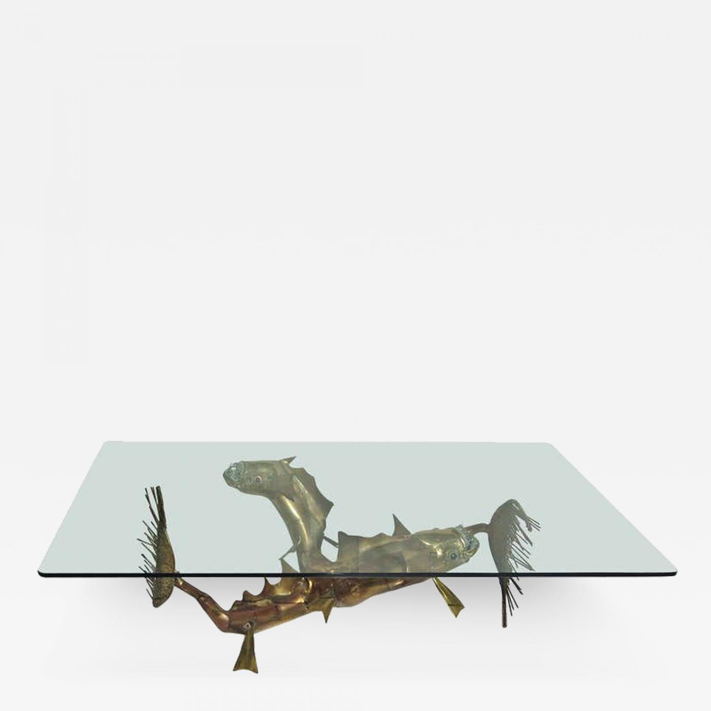 Christian Techoueyres Hand Formed Sea Creature Coffee Table by