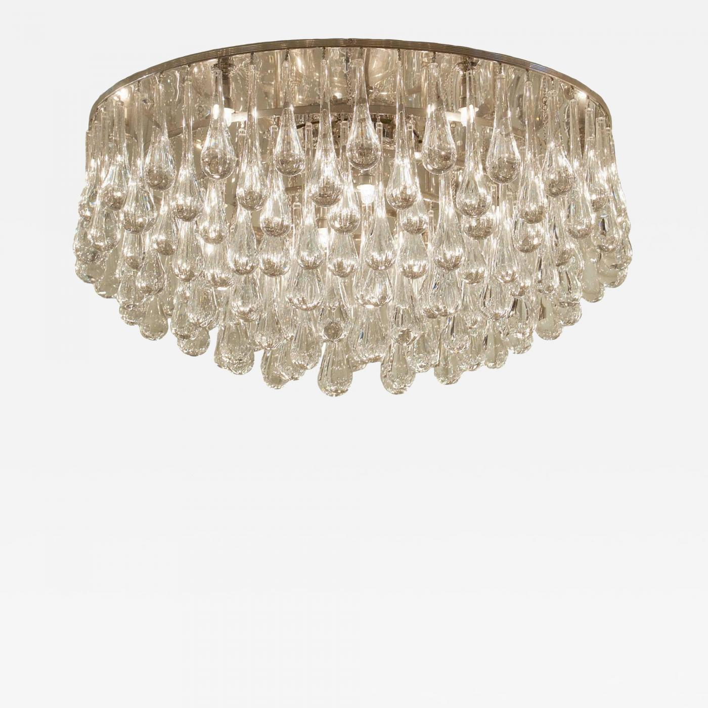 ceilings garden home ceiling mount crystal product light chandelier with flush semi black antique shade antonia bronze iron