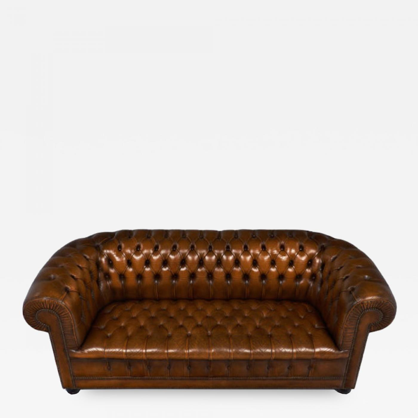 Super Cognac Leather English Chesterfield Sofa Gmtry Best Dining Table And Chair Ideas Images Gmtryco