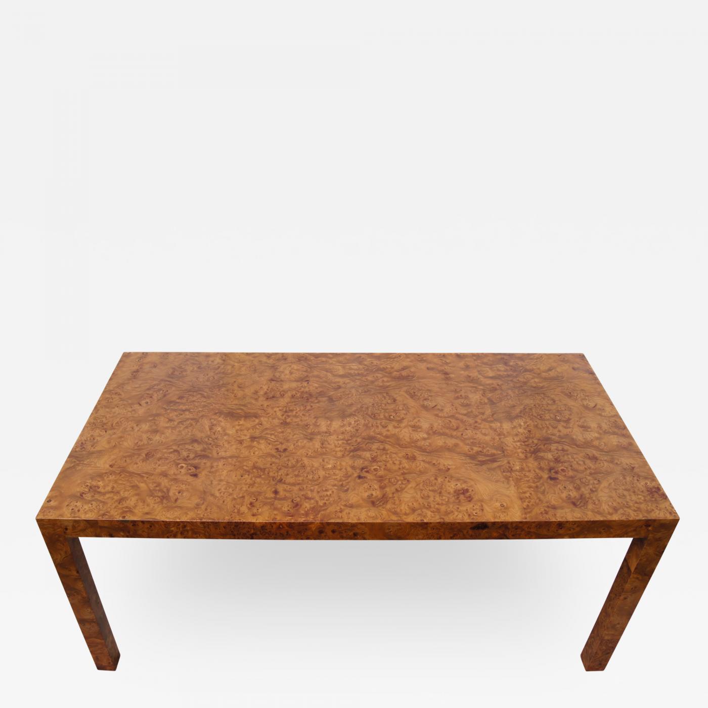 Custom Parsons Coffee Table in Walnut Burlwood