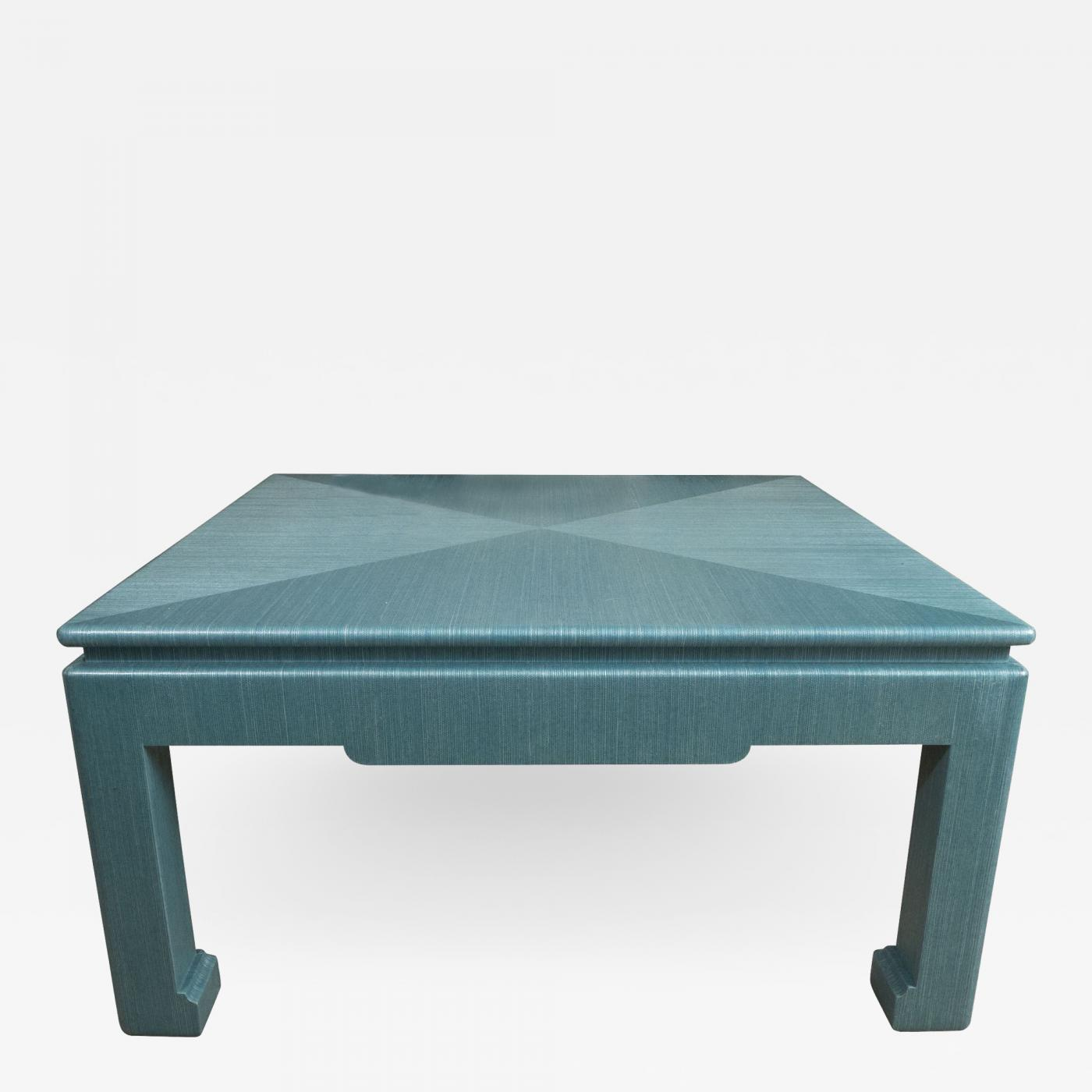 Surprising Custom Turquoise Grasscloth Wrapped Cocktail Table Bralicious Painted Fabric Chair Ideas Braliciousco