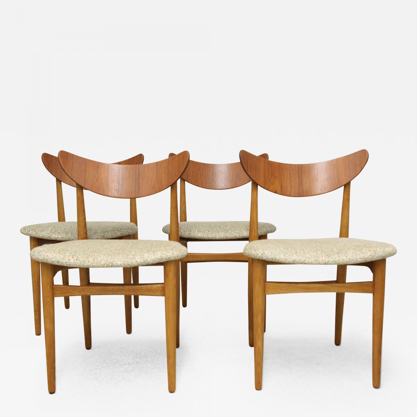 Stupendous Danish Mid Century Modern Dining Chairs Set Of 4 Short Links Chair Design For Home Short Linksinfo