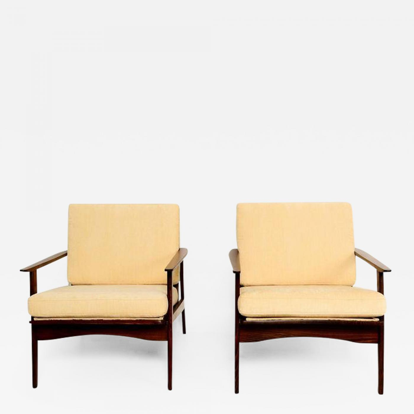 Outstanding Danish Mid Century Modern Pair Of Scandinavian Easy Chairs Beatyapartments Chair Design Images Beatyapartmentscom
