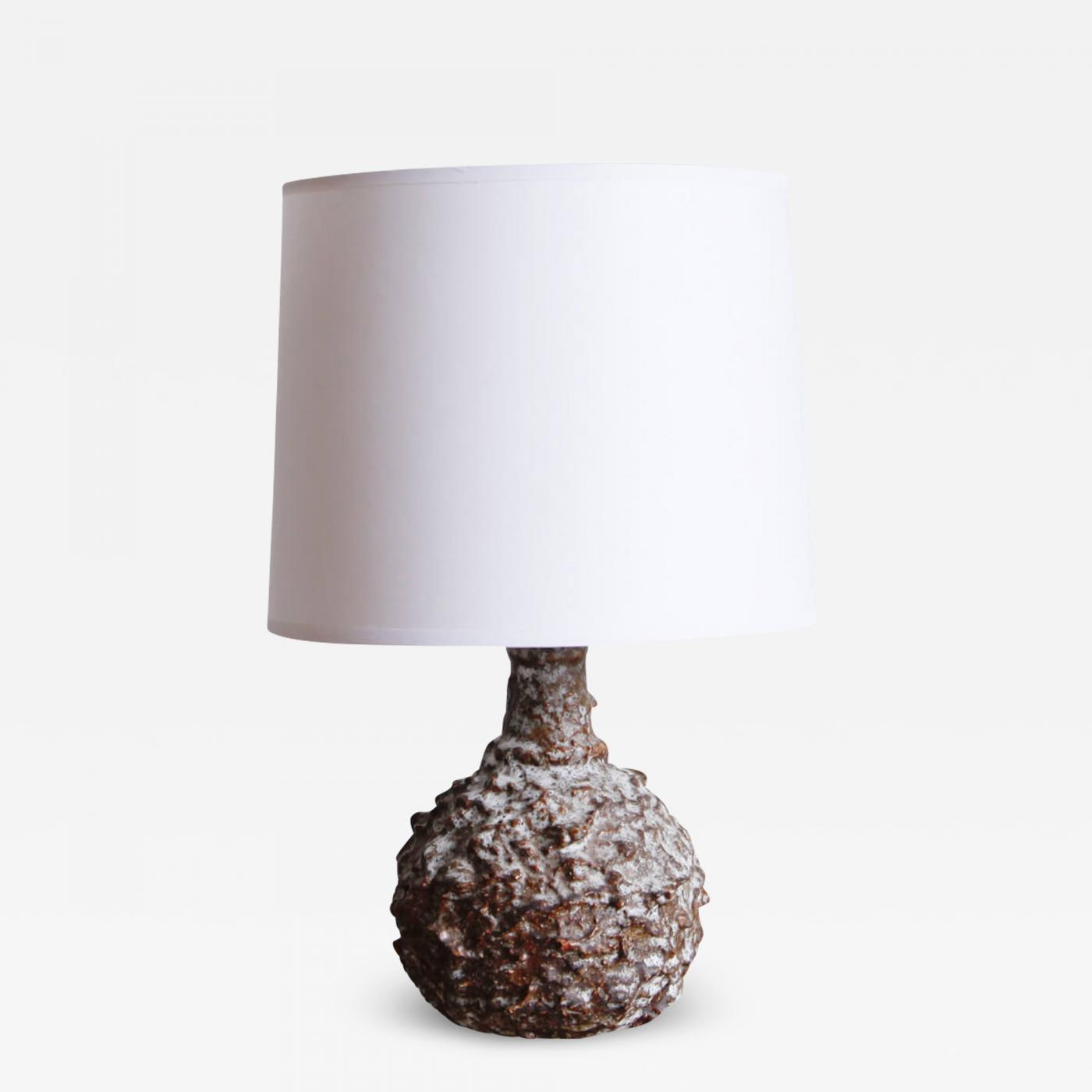 Image of: Danish Modern Glazed Earthenware Desk Lamp