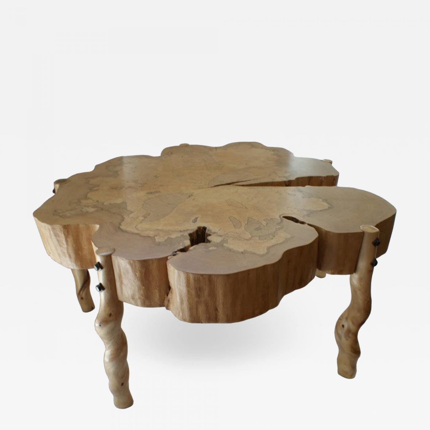 Maple Wood Coffee Table.David Ebner David N Ebner Spalted Maple Wood And Sassafras Coffee Table