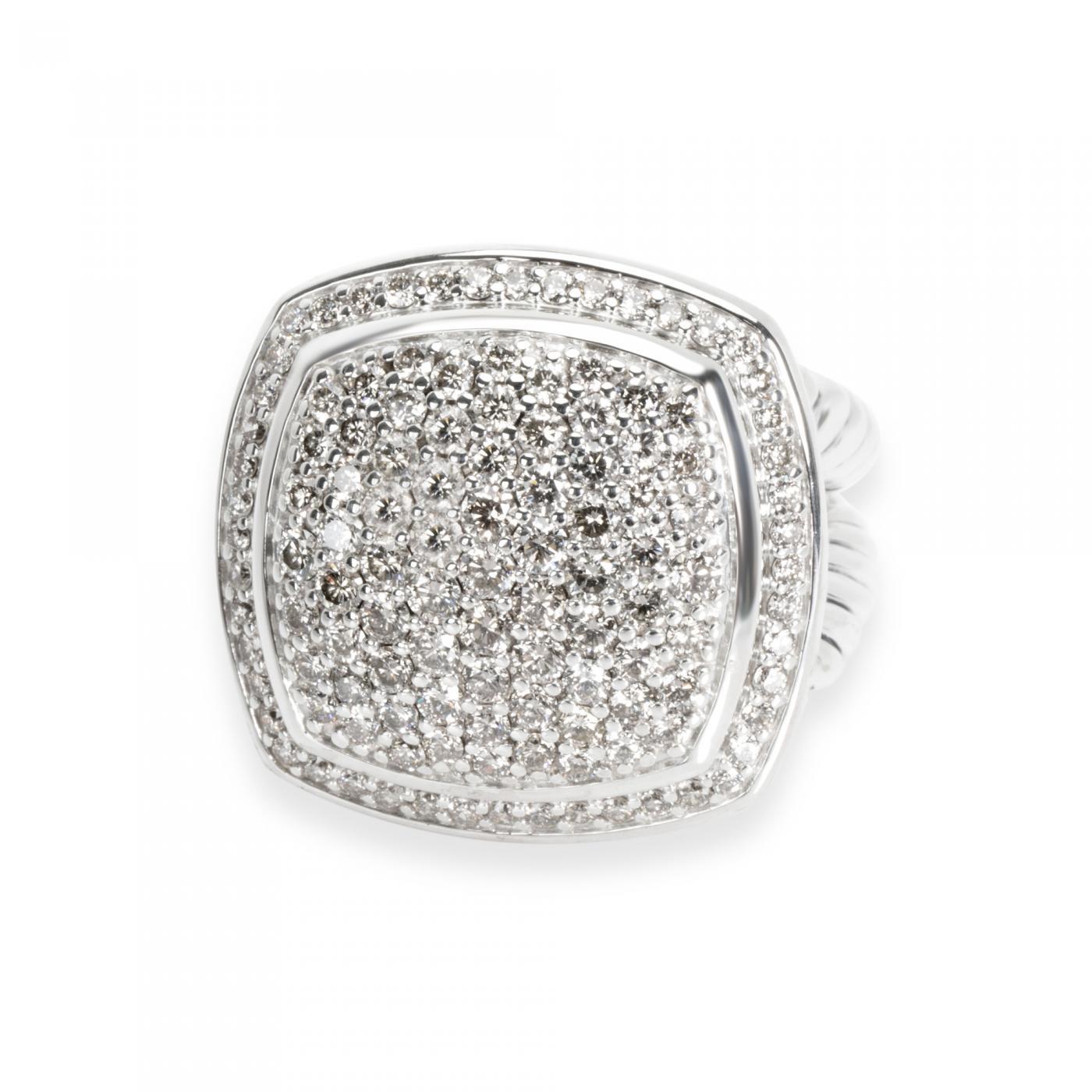 David Yurman David Yurman Albion Diamond Ring In Sterling Silver 1 53 Ctw