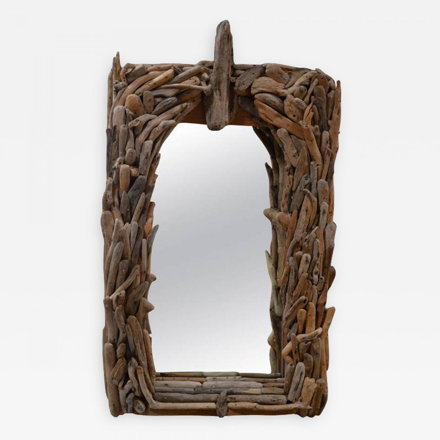 Distress Wood Wall Mirror