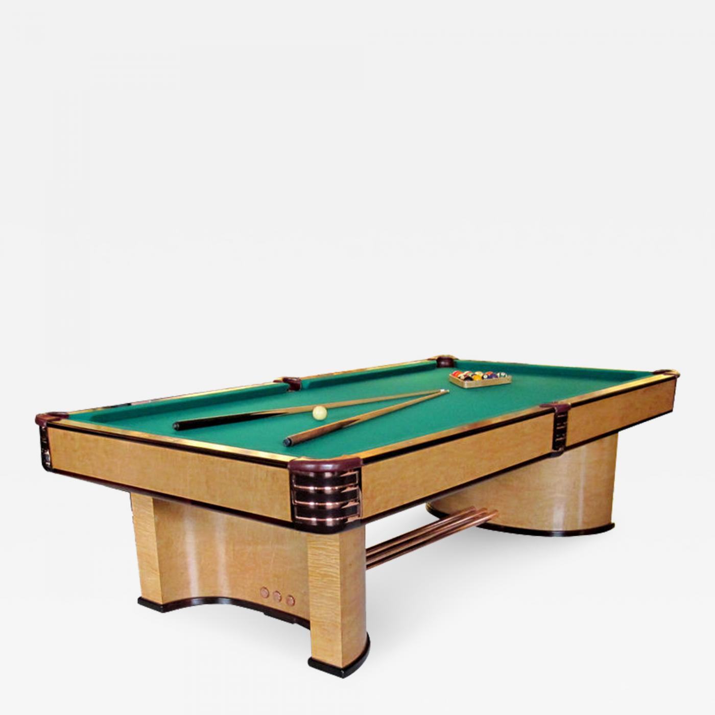 Donald Deskey Brunswick Paramount Art Deco Pool Table - Lucite pool table