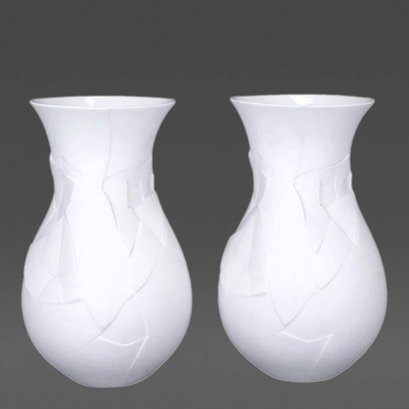 dror benshetrit  pair of rosenthal studio line mattewhite vases  - listings  decorative arts  decorative objects  vases jars  urns
