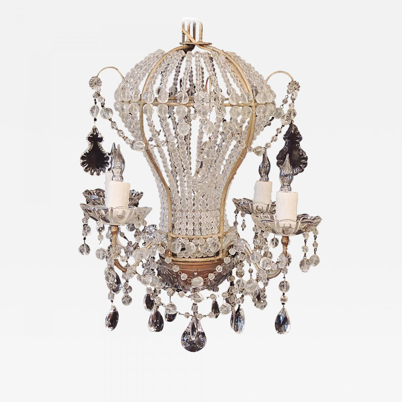 Early 20th c venetian crystal chandelier aloadofball Images