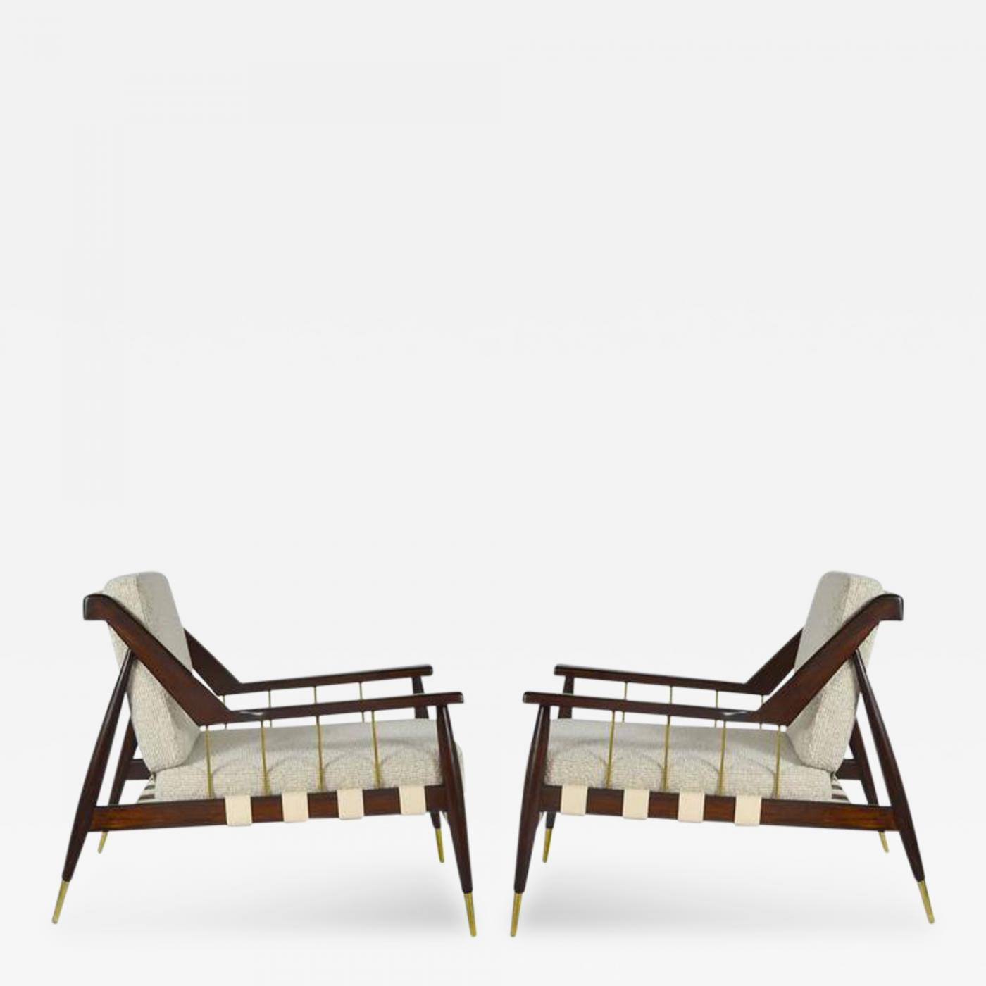 edmond spence rare edmond spence strapped lounge chairs