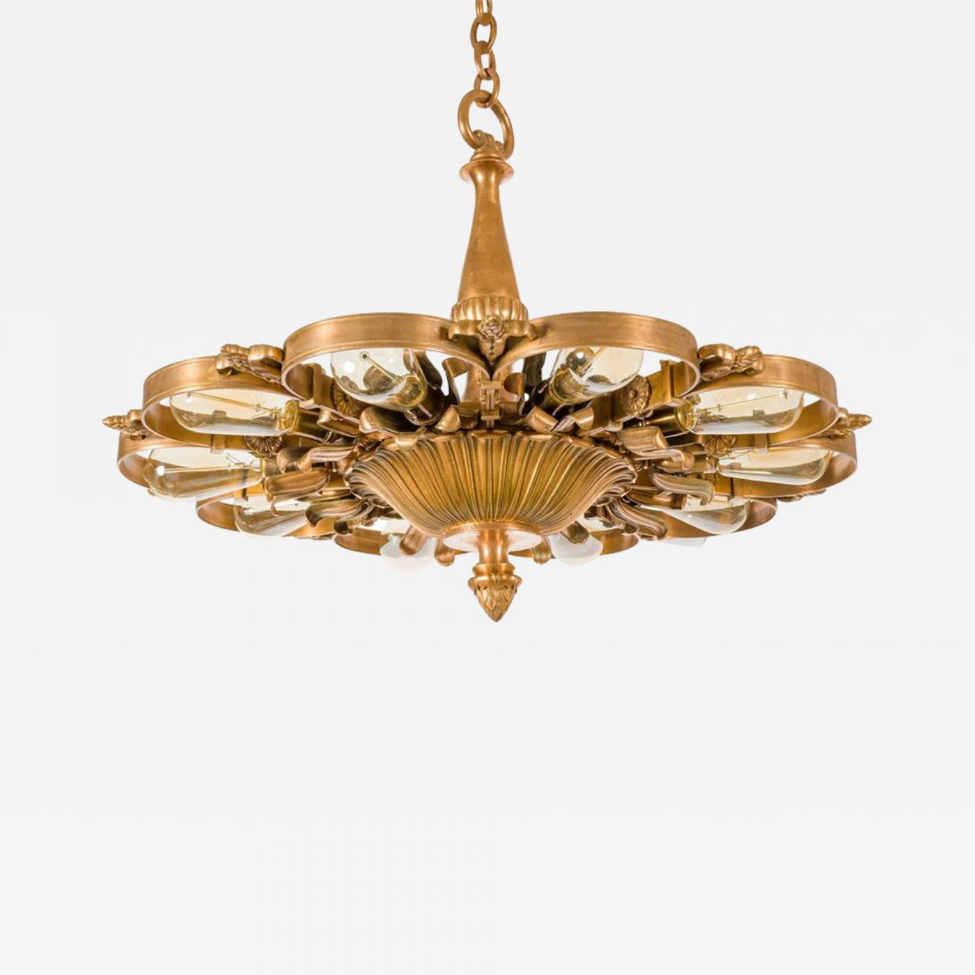 Neoclassical lighting Ceiling E F Caldwell Bronze Neoclassical Chandeliers Usa 1920s Incollect Edward Caldwell Co Caldwell Lighting E F Caldwell Bronze