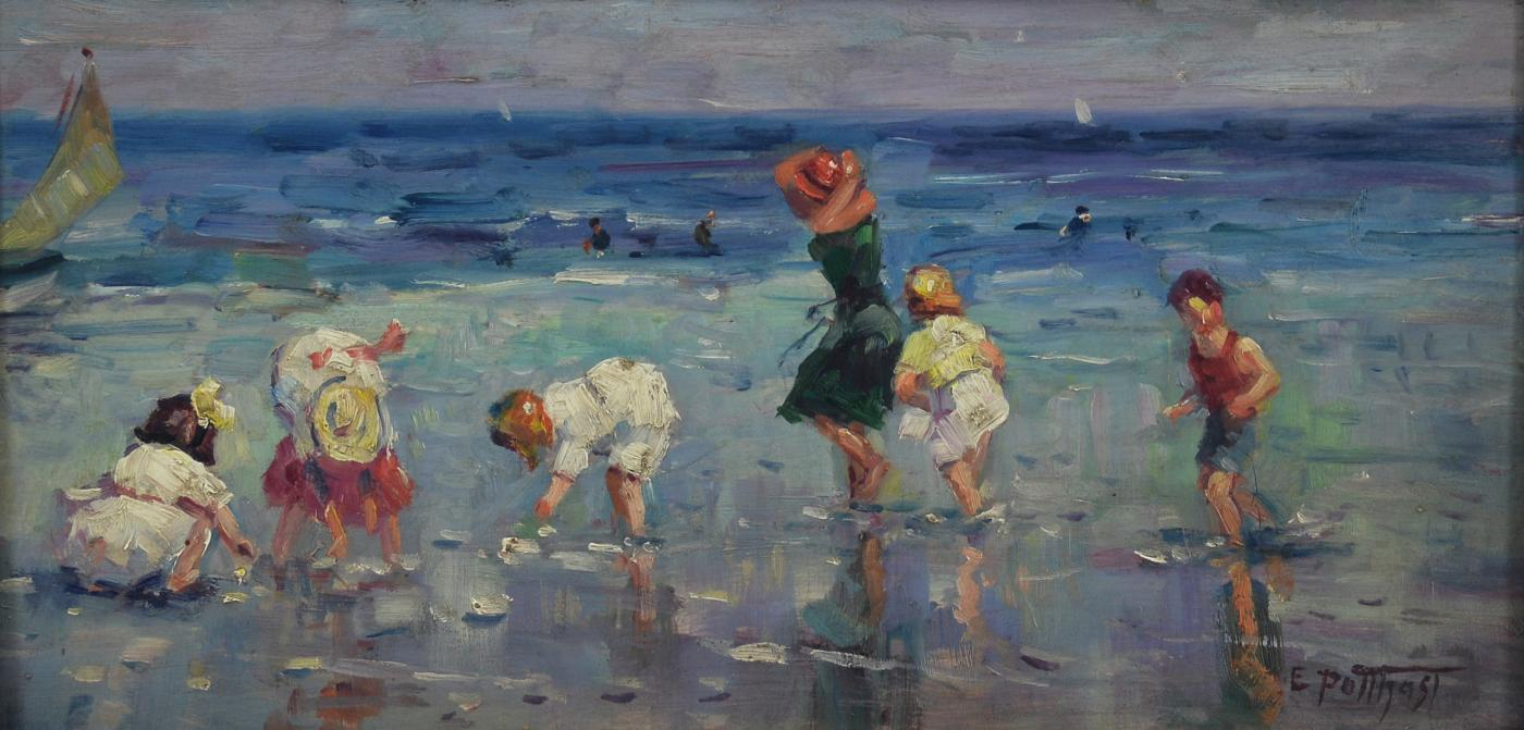 Edward Henry Potthast Beach Scene