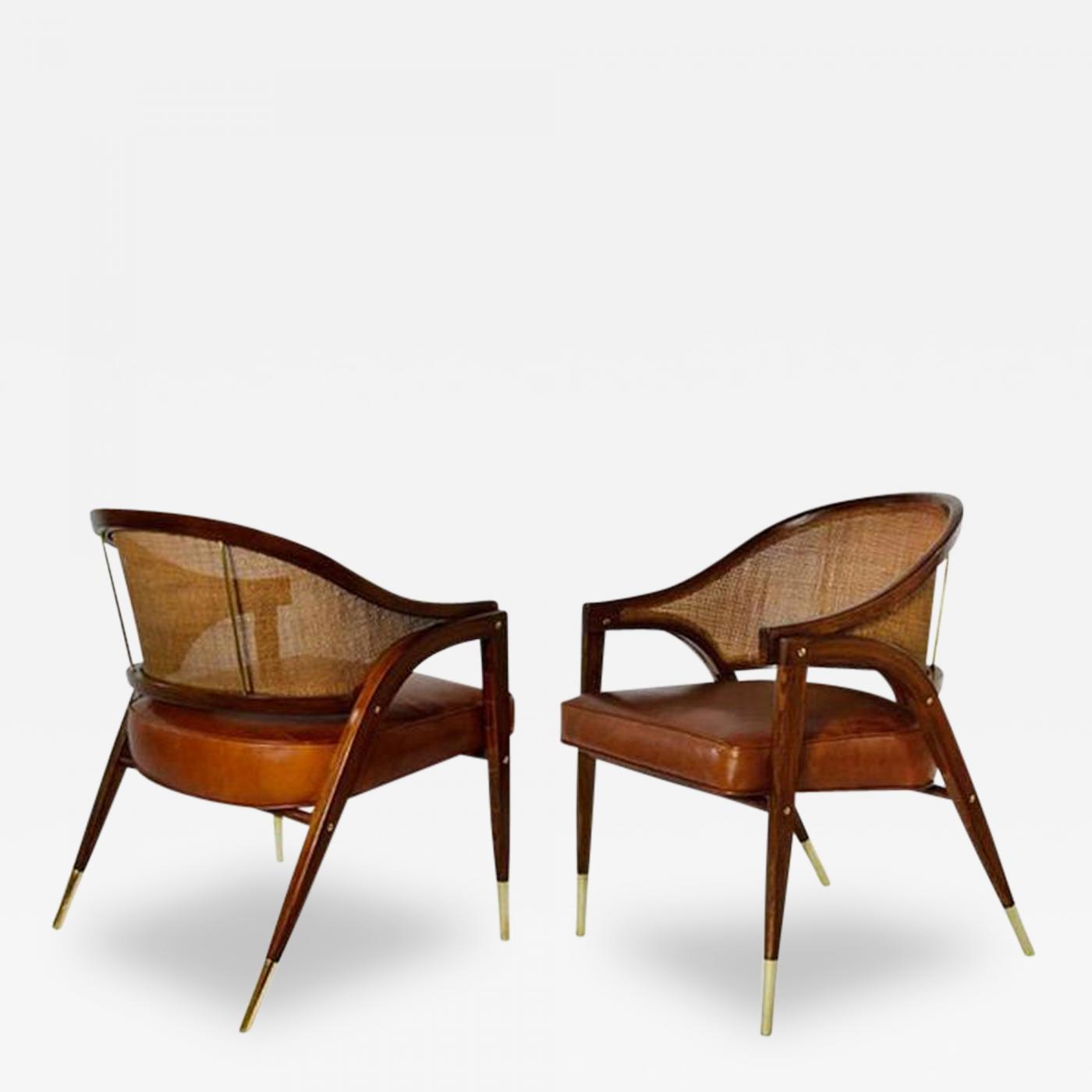 Edward Wormley A Frame Armchairs By Edward Wormley For
