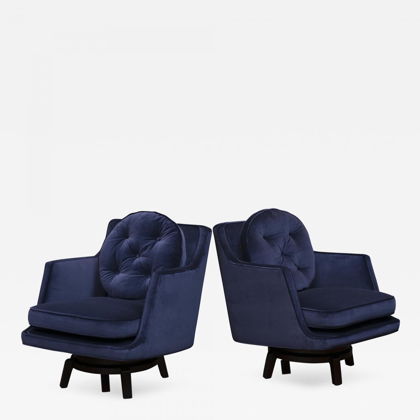 Edward wormley dunbar swivel lounge chairs - Edward wormley chairs ...