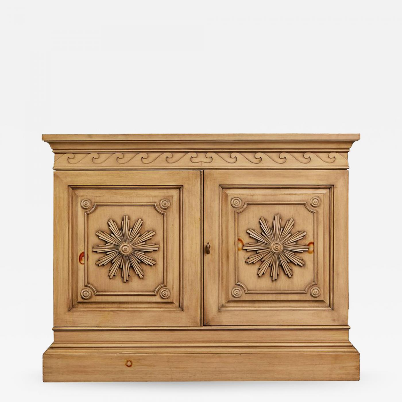Edward wormley carved oak bar cabinet for dunbar circa 1960