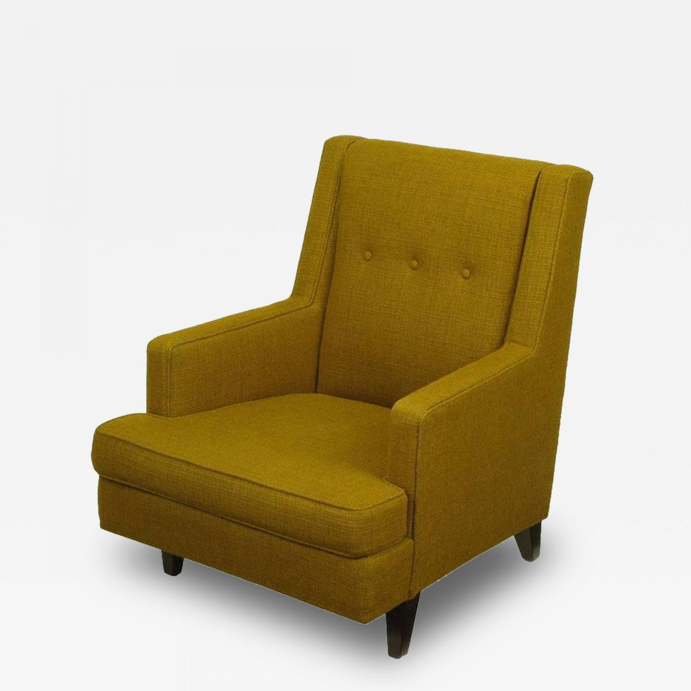 Edward Wormley Edward Wormley Lounge Chair in Moss Green Wool