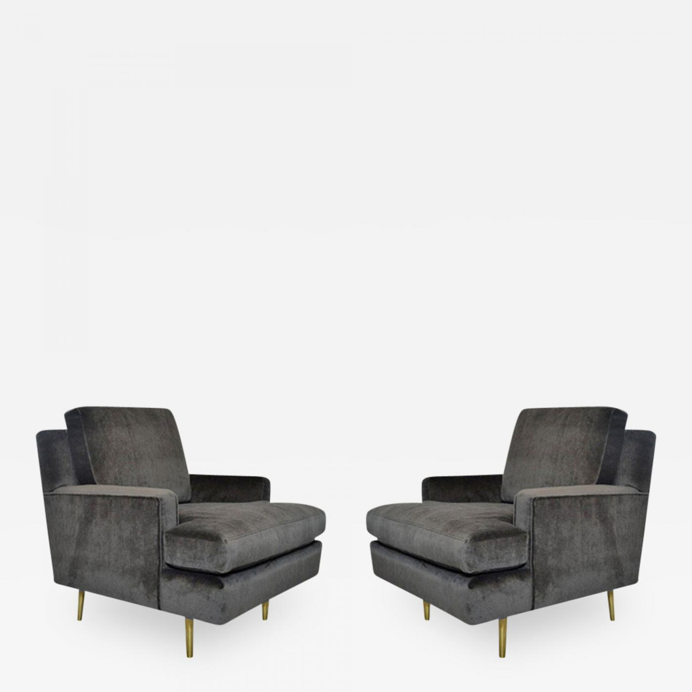 Edward Wormley Pair of Edward Wormley for Dunbar Lounge Chairs