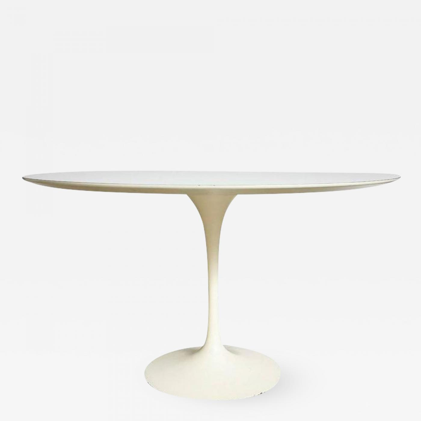 Eero Saarinen Saarinen Knoll Dining Table White Laminate USA S - Saarinen table white laminate