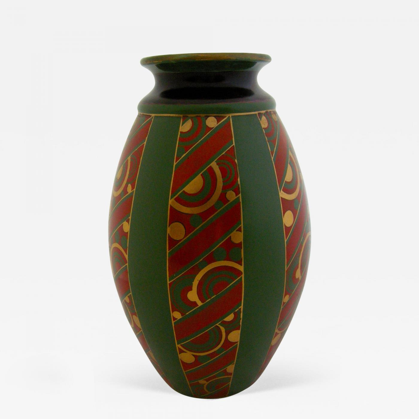 Emile lombart monumental faience art deco vase by emile lombart listings decorative arts objects vases jars urns floridaeventfo Image collections