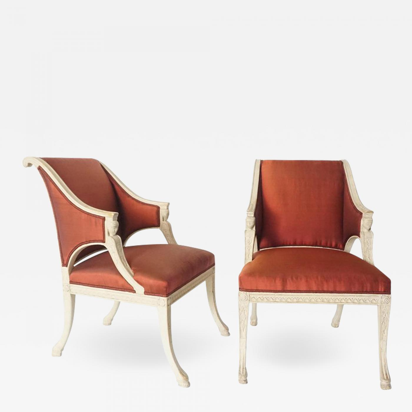 Ephraim Stahl Gustavian Chairs By Swedish Royal Court Chair