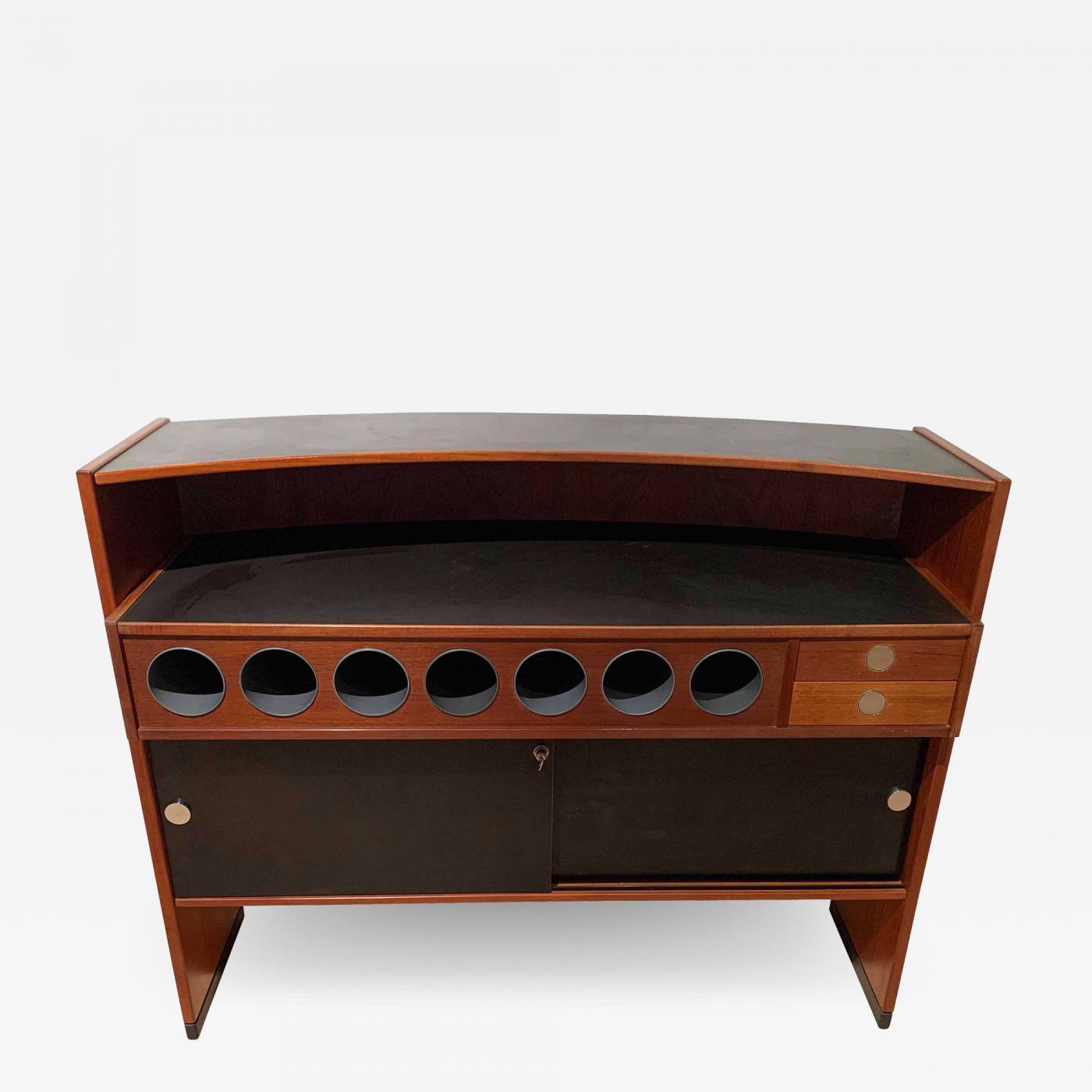 Picture of: Erik Buch Mid Century Modern Teak Wood Bar Cabinet By Erik Buch For Dyrlund Denmark 1960s