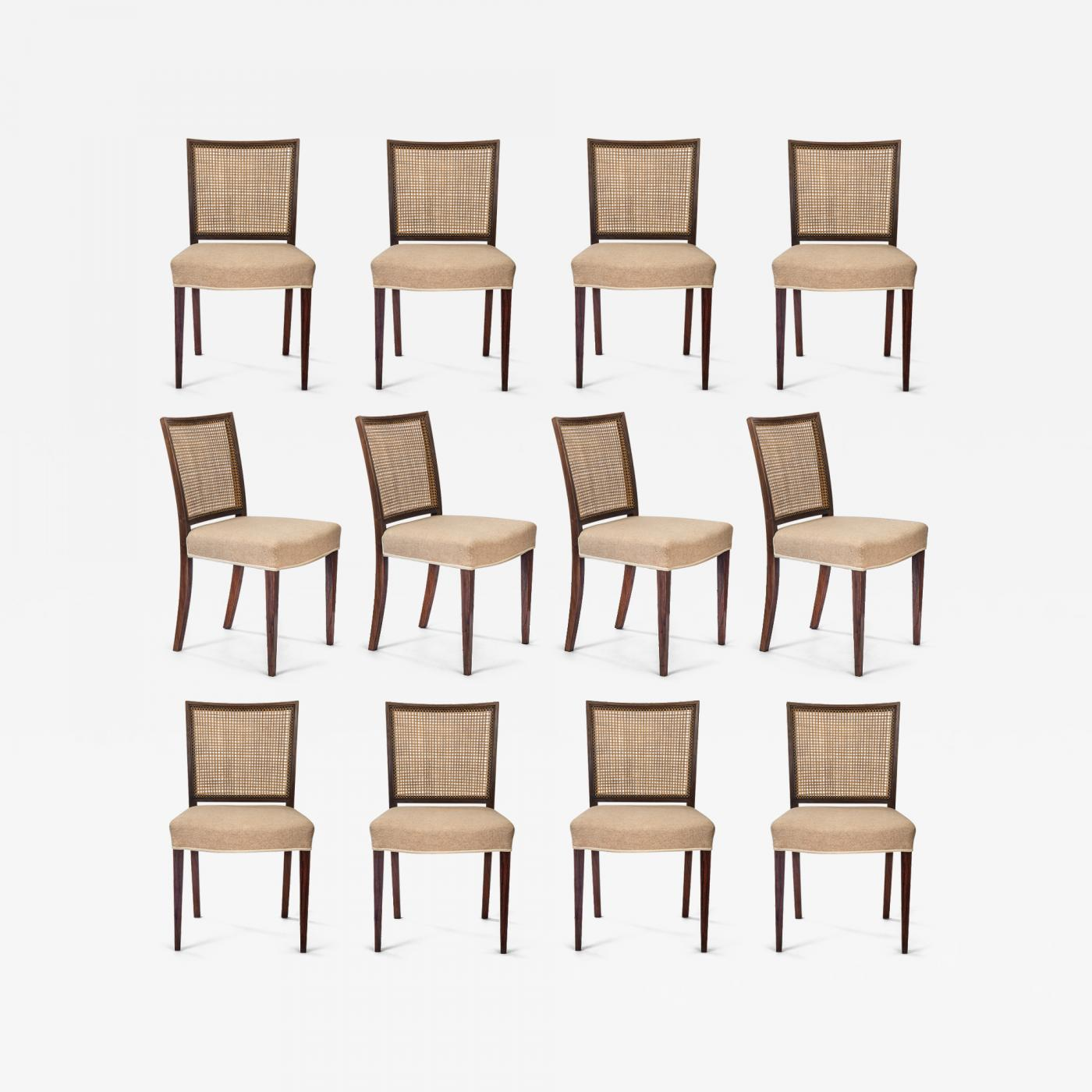 About A Chair 12 Side Chair.Ernst Kuhn Ernst Kuhn Set Of 12 Danish Caned Rosewood Side Chairs