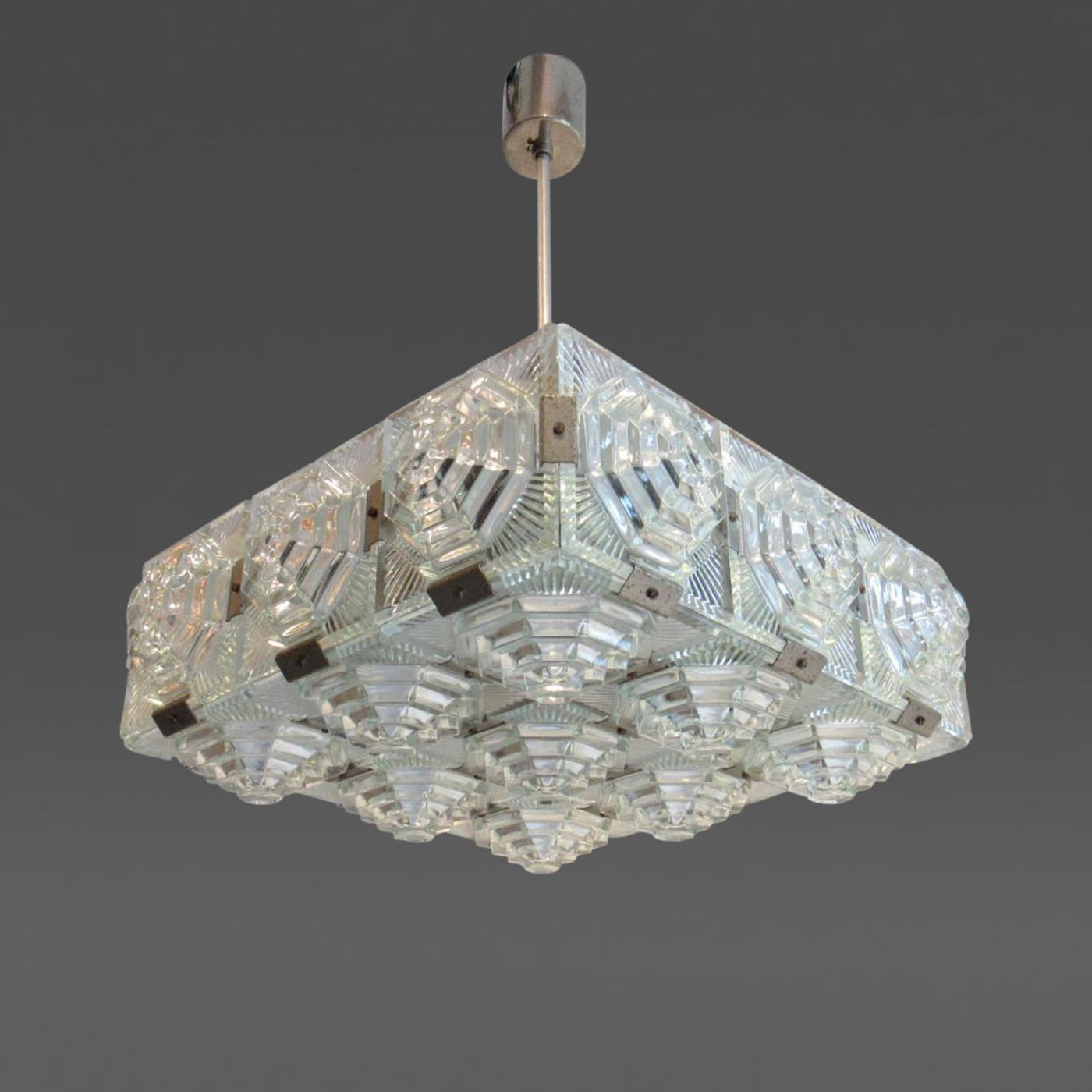 Listings Furniture Lighting Chandeliers And Pendants European Mid Century Modern Cube Light Fixture