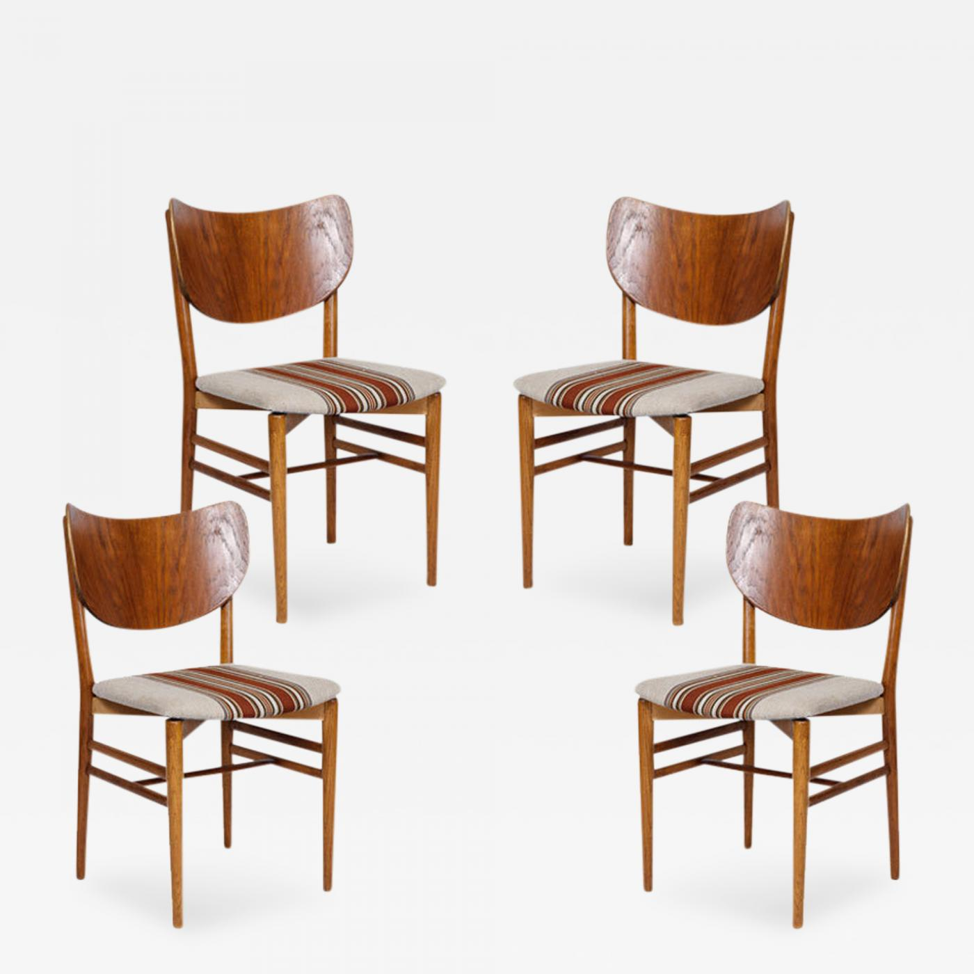 Incredible Eva And Nils Koppel Set Of 4 Eva Niels Koppell Dining Chairs Creativecarmelina Interior Chair Design Creativecarmelinacom
