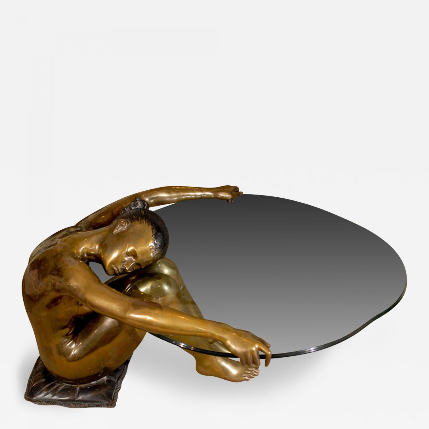 Exceptional Female Nude Sculpture Coffee Table