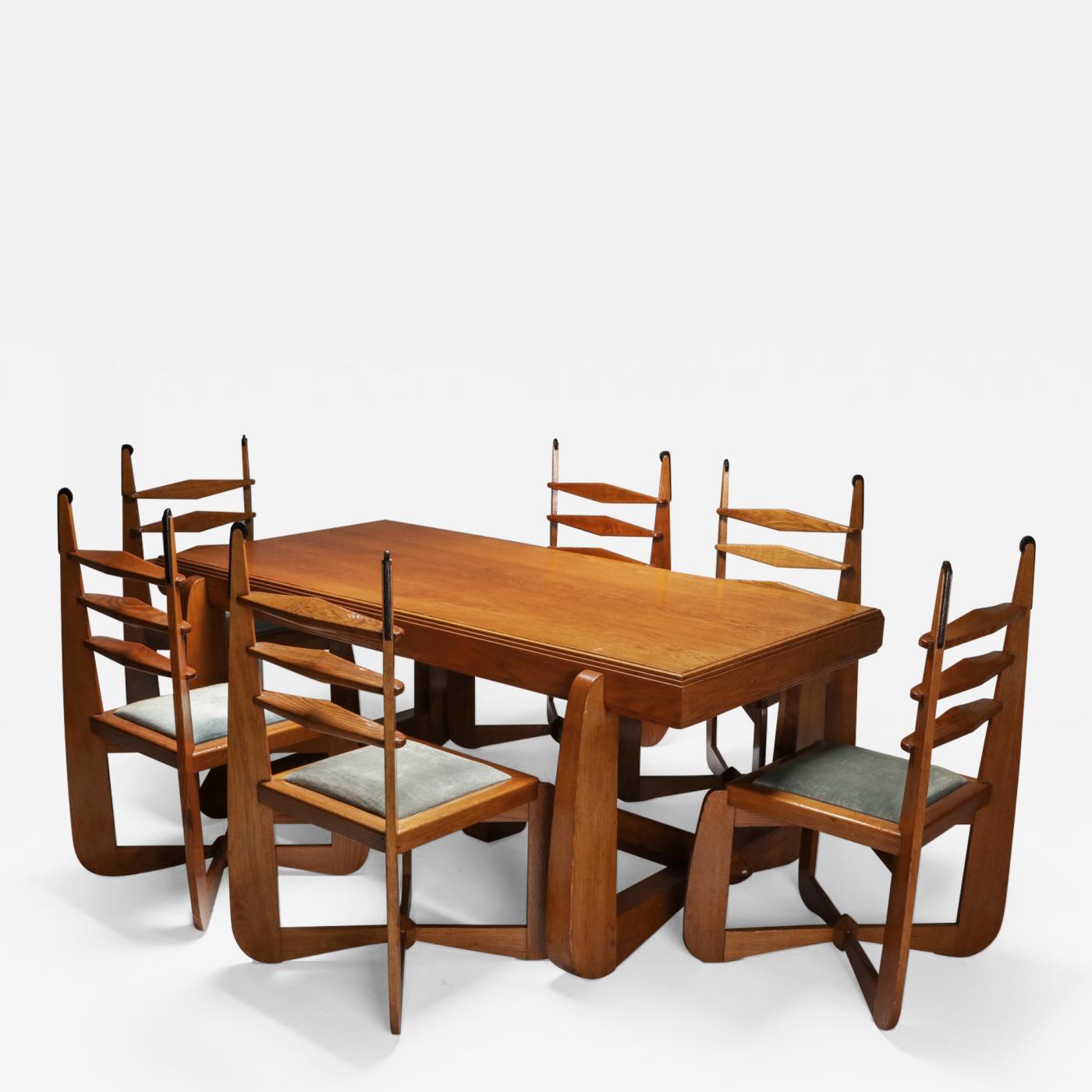 Expressionist Modern Oak Dining Room, Modern Oak Dining Room Set