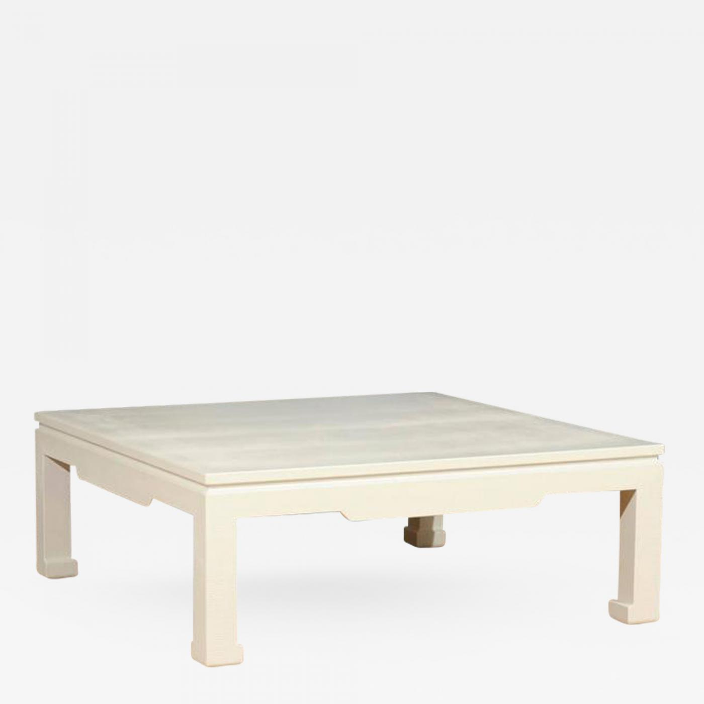 Exquisite Vintage Snake Skin Coffee Table in Cream Lacquer