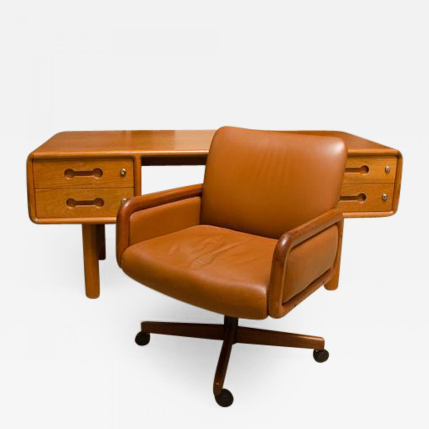 Fabulous Danish Teak Desk With Matching Desk Chair