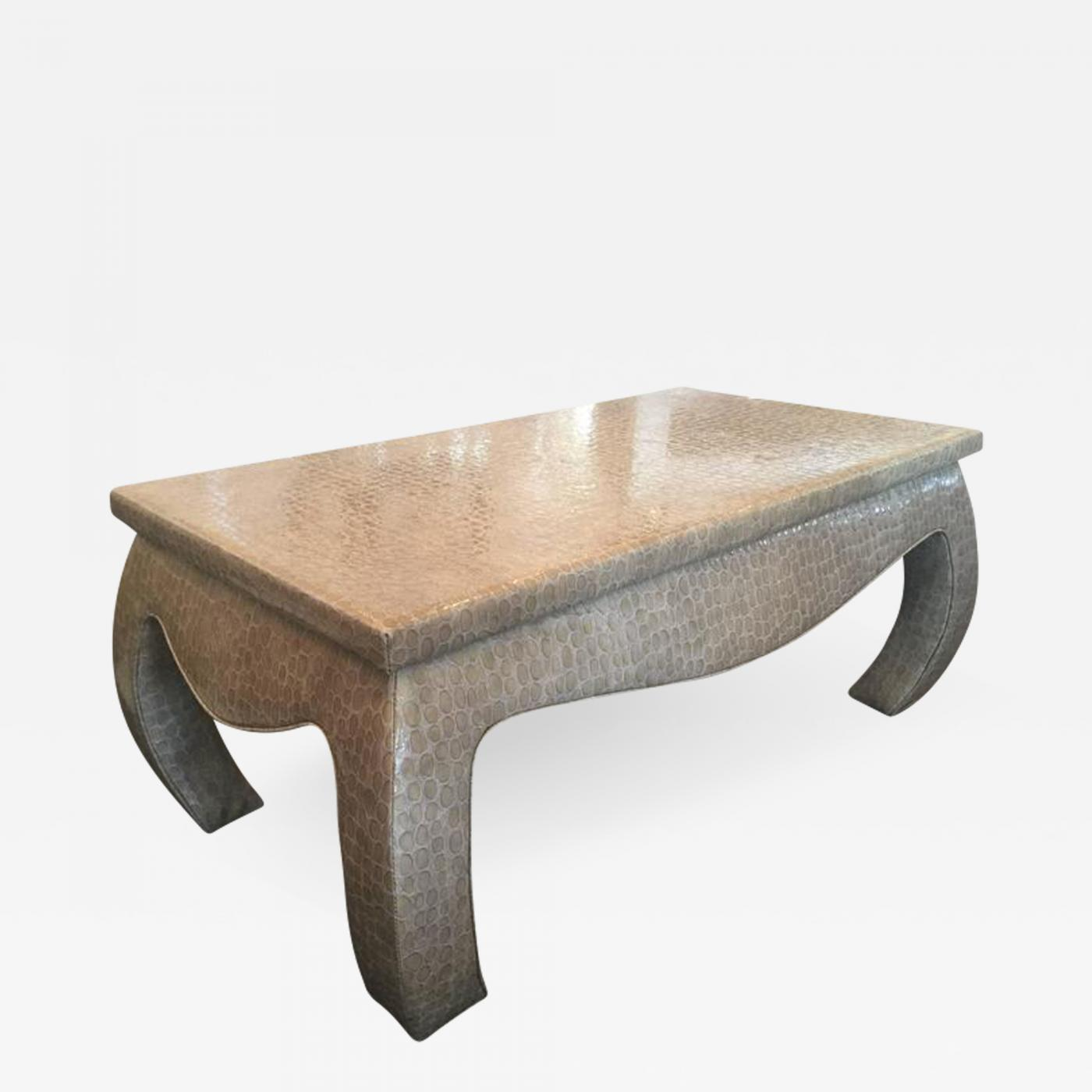 Superb Faux Snake Skin Wrapped Ming Coffee Table Bralicious Painted Fabric Chair Ideas Braliciousco