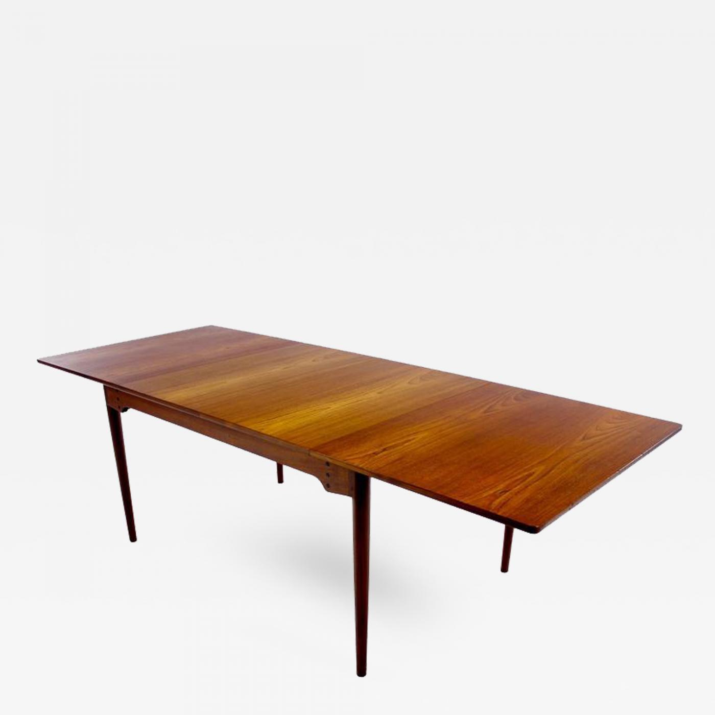 finn juhl danish modern teak dining table designed by finn juhl rh incollect com mid century modern dining room danish modern dining room tables