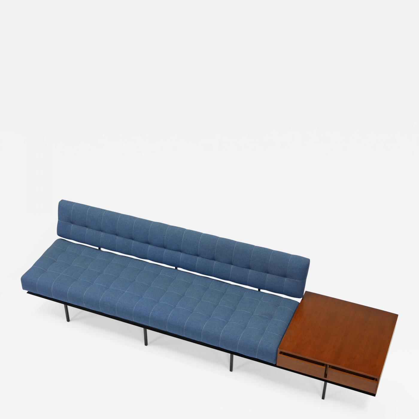 Florence knoll minimalist sofa and cabinet by florence knoll for Minimalist sofa