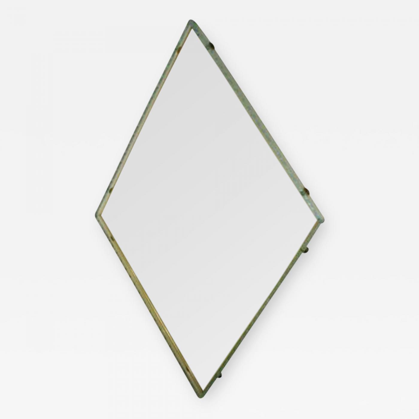 Fontana Arte A Diamond Shaped Wall Mirror By Fontana Arte