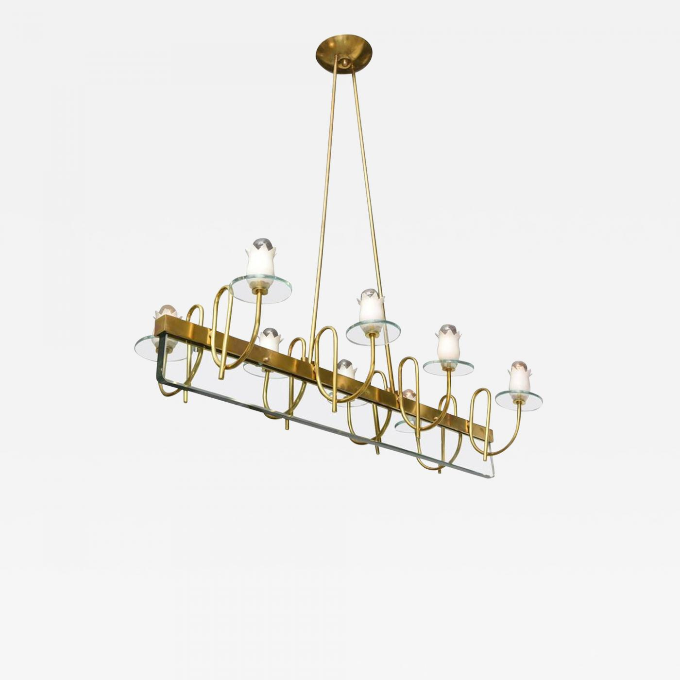Listings Furniture Lighting Chandeliers And Pendants Fontana Arte Mid Century Modern Brass Glass
