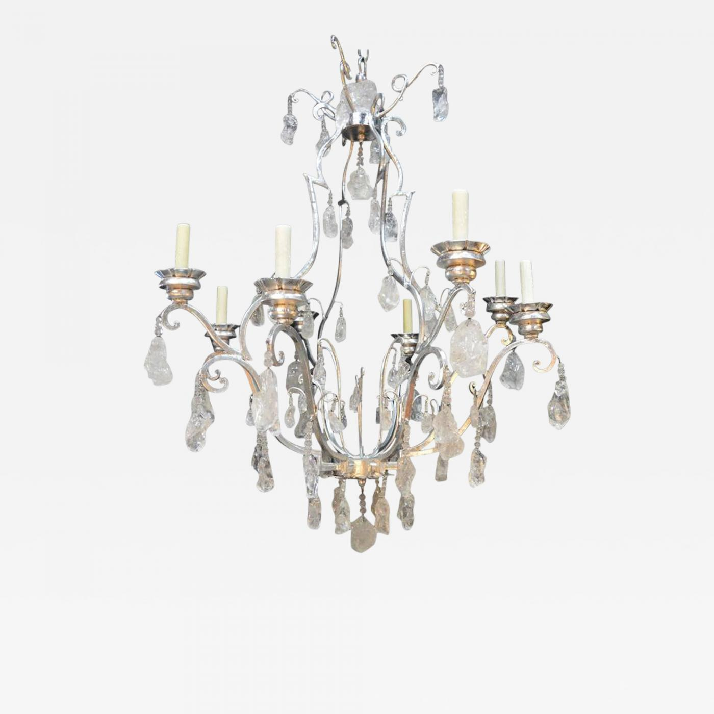 Free Form Rock Crystal Chandelier