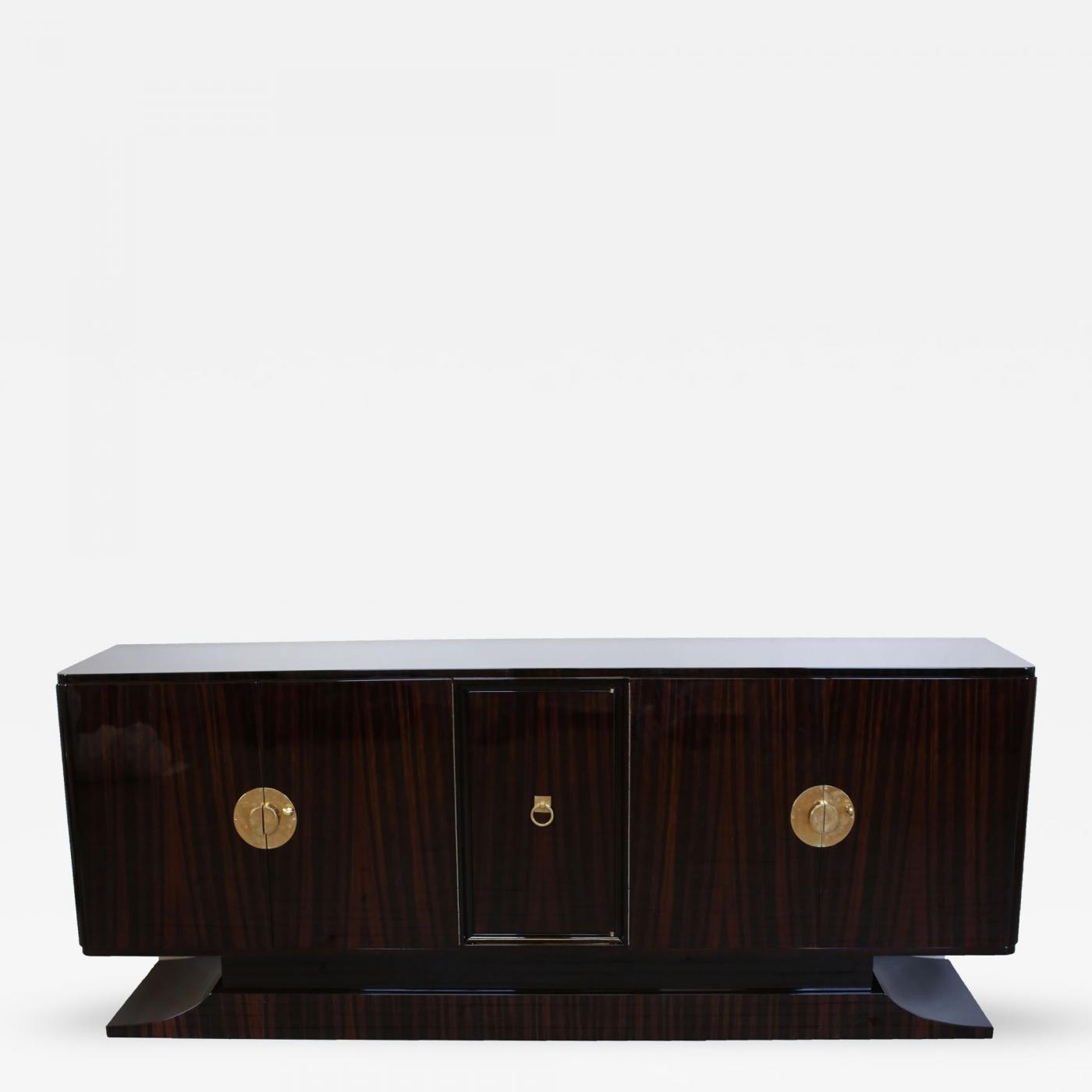 Listings / Furniture / Case Pieces / Cabinets · French Art Deco Macassar  Ebony ...