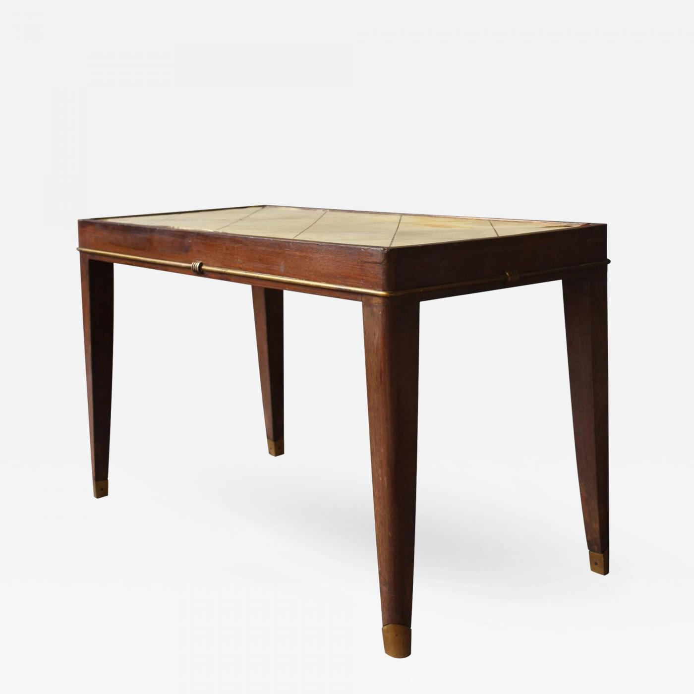 A French Art Deco Rosewood Coffee Table With A Parchment