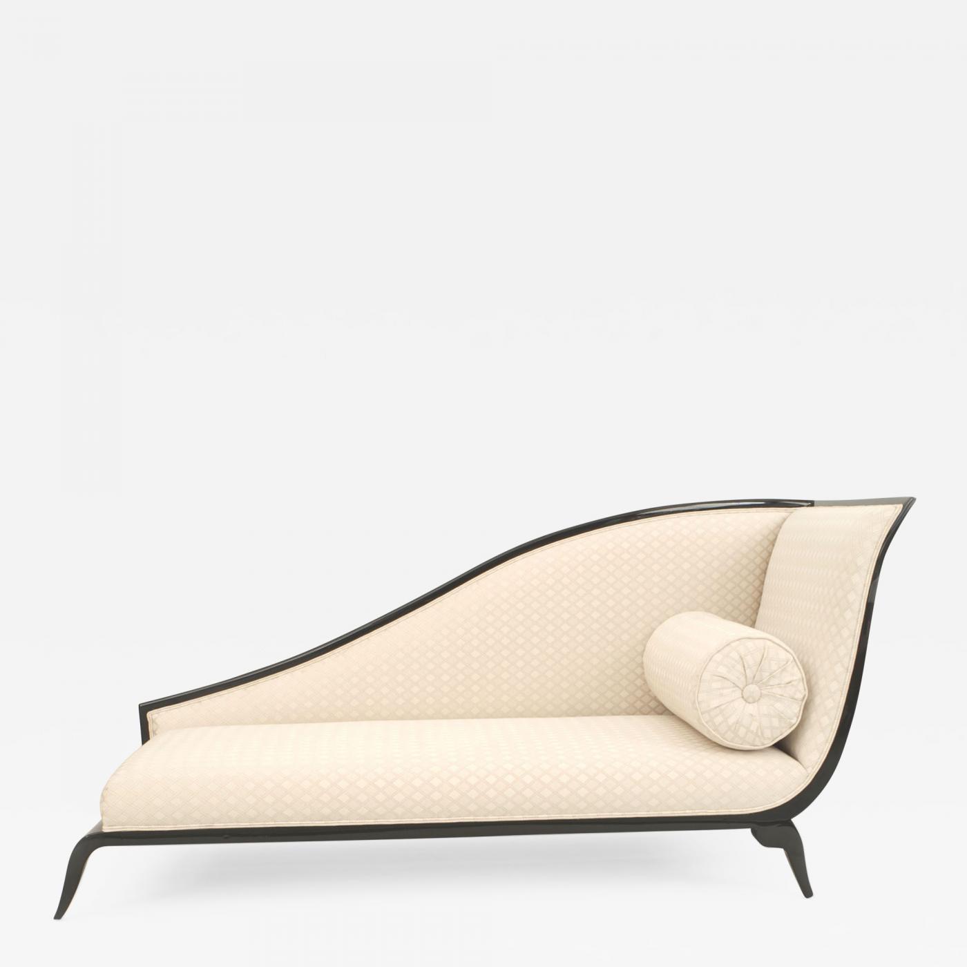 French Art Deco Style Sleigh Back Recamier