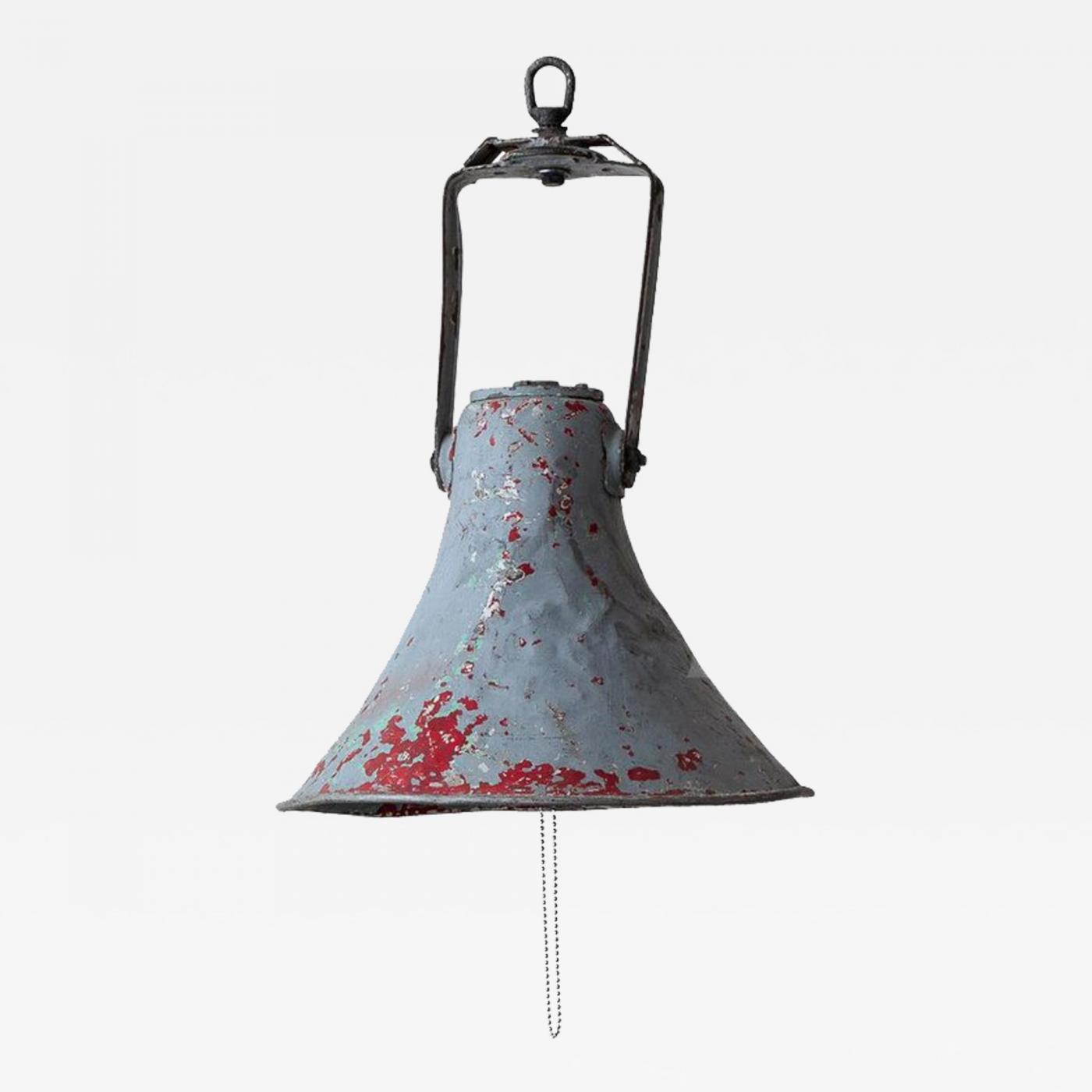 French Vintage Industrial Pendant Light