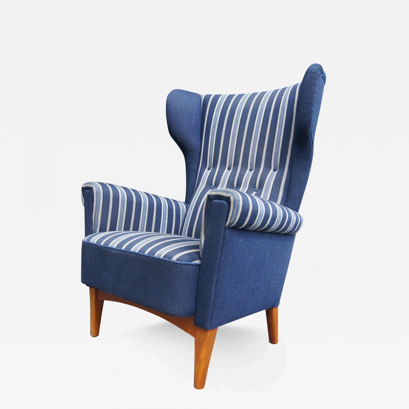fritz hansen danish modern high back lounge chair for fritz hansen